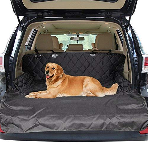 Pet Car Sitzbezug, Universal vorne / hinten / Boot Liner Protector Hängematte für Hunde Katzen, Wasser & Scratch Proof, rutschfeste Rückseite mit Ankern und verstellbaren Sicherheitsgurt für die meisten Autos & Trucks & SUVs von Zellar