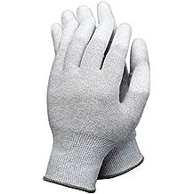 1 par de guantes antiestáticos para ordenador, electrónico, ESD, seguro, grandes guantes