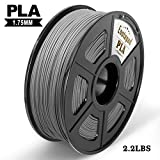 PLA 3D Printer Filament,Enotepad PLA Filament 1.75mm,Dimensional Accuracy 1.75±0.02 mm,Silver PLA 1KG Spool