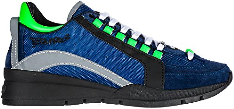 Dsquared2 Herrenschuhe Herren Leder Schuhe Sneakers 551 Blu EU 43 SNM040411700440M699