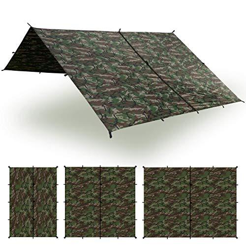 Aqua Quest Safari Tarp - 100% wasserdichtes, leichtes SilNylon Bushcraft Camping Obdach - 3x2 m Camo/Tarnung