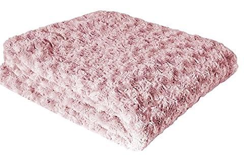 Couleur Montagne Plaid Polyester Rose 130 x 160 x 160 cm