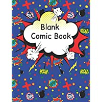 Blank Comic Book: Large pages for kids with a variety of templates. Draw your own comics and write stories. Cartoon sketch book gift idea,