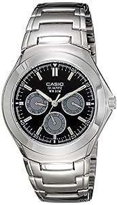 Casio Enticer Tachymeter Black Dial Men's Watch - MTP-1247D-1AVDF (A389)