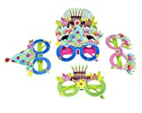 #7: INSTABUYZ Paper Mustache Glasses and Stars Photography Prop for Birthdays (BPD-00820-GOG-10P) - Pack of 10