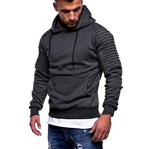 Bazhahei uomo top,felpe con cappuccio tinta unita autunnale e invernale pullover da uomo maglione casual a maniche lunghe cappotto t-shirt basic a maniche lunghe felpa spessa