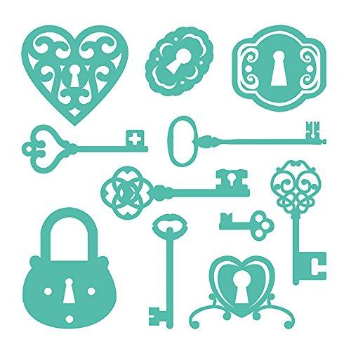 First Edition Metal Crafting Dies - Lock & Key (Magnetic Storage)