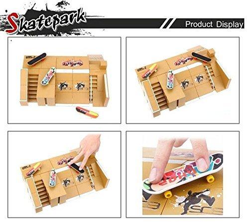 ciriQQ Finger Skate Park Kit Rampa Parte con 1 dedo Skateboard Mini Scooter Escena Prop Ni/ño Juguete Ni/ños Diapasones
