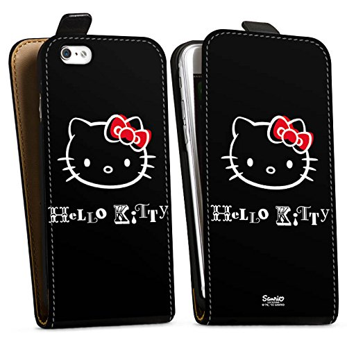Apple iPhone X Silikon Hülle Case Schutzhülle Hello Kitty Merchandise Fanartikel Love Downflip Tasche schwarz