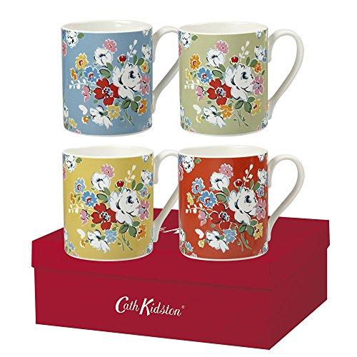 Cath Kidston 250 Ml Fine China Clifton Rose Mugs, Set Of 4, Multi-colour