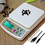 #6: Zelenor Compact Scale with Tare Function SF 400A with Adapter & Battery Operated 10 kg Digital Multi-Purpose Kitchen Weighing Scale