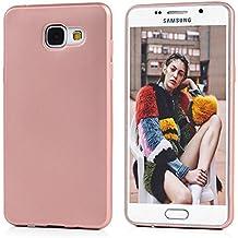 Coque A5 2016 MAXFE.CO Coloré Simple en TPU Samsung Galaxy A5 2016 (5.2 pouces) Transparente Housse Souple Case Cover Pour Samsung Galaxy A5 2016 (5.2 pouces) - Or Rosé