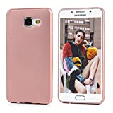 Coque A5 2016 MAXFE.CO Coloré Simple en TPU Samsung Galaxy A5 2016 (5.2 pouces) Transparente Housse Souple Case Cover Pour Samsung Galaxy A5 2016 (5.2 pouces) - Or Rosé