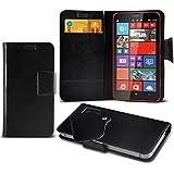 (Black) Nokia Lumia 920 Super dünne Kunstleder Saugnapf Wallet Case Hülle mit Credit / Debit Card SlotsBy Spyrox