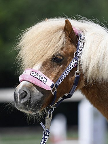 Busse Halfter-Set Kids Collection V Navy rosa mit süßem Fleckenmuster, 17_Groessen:SH/M-Pony