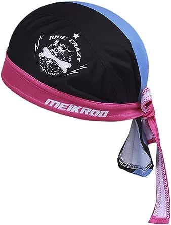 Fakeface Kopftuch Für Damen Herren Bandana Cap Hut Sport Kopfbedeckung Piratenmütze Hip Hop Cap Stirnband Aus Atmungsaktive Baumwolle Blau Schwarz Sport Freizeit
