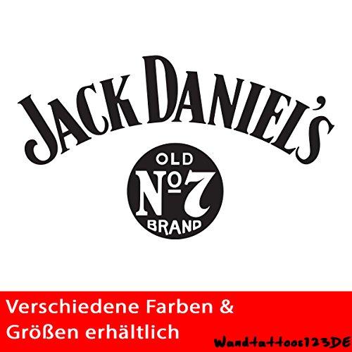 Preisvergleich Produktbild Jack Daniels Autoaufkleber Sticker Aufkleber Autotattoo Decal 62 (Schwarz)