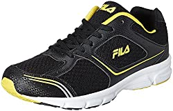 Fila Mens Run Fast Plus 4 Black and Yellow Running Shoes - 9 UK/India (43 EU)