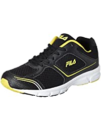 Fila Men's Run Fast Plus 4 Black and Yellow Running Shoes -7 UK/India (41 EU) (11004021)