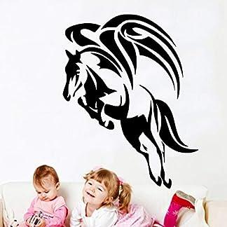 Tianpengyuanshuai Protección del Medio Ambiente Creativo Pegasus alas Apliques Pegatinas de Vinilo Simple decoración del hogar Pegatinas de pared63x85cm