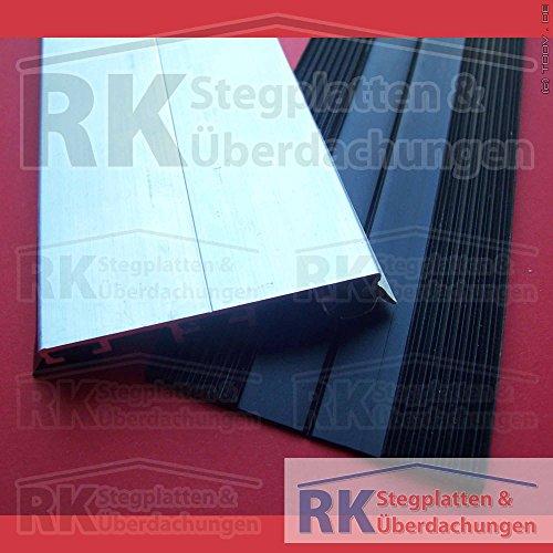 Alu Universal-Deckprofil für 10 mm Platten, Länge 3000 mm