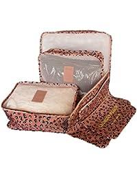 Shopper Joy 6 Unidades Organizadores para Maleta Cubos de Embalaje Bolsas de Equipaje para Viaje Vacaciones
