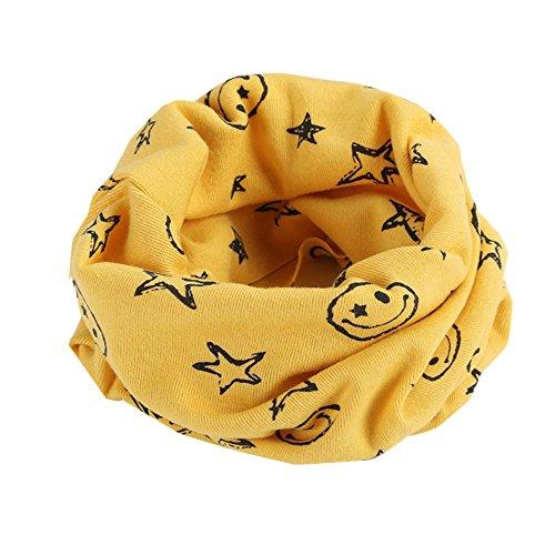 Schal Kinder, Dragon868 Warmer Baumwollschal Junge Mädchen Schal Winter Multicolor Halstuch (Gelb)