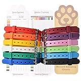 Expawlorer Hundehalsbänder für Welpen, verstellbar, umweltfreundlich, Silikon, 12 Stück