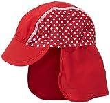 Playshoes Baby - Mädchen Mützchen 461038 Bademütze/Badekappe in rot mit weißen Punkten mit UV-Schutz nach Standard 801 und Oeko-Tex Standard 100, Gr. 53, Rot (rot)