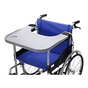 Table plateau pour fauteuil roulant avec porte gobelet medical portable plateaux sur accessoires - Table pour fauteuil roulant ...