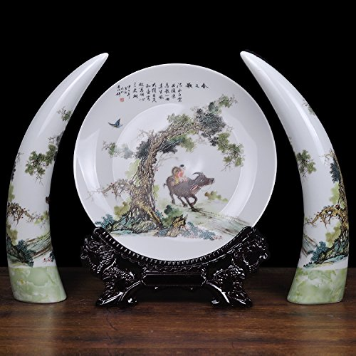 sdn2-hankook-chinaware-living-room-ivory-3-piece-pan-creative-home-ornaments-chinese-adhering-the-va