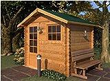 Mondocasette Casa Gartenhaus aus Holz - Modell Mantova Wandstärke 28 mm 250 x 200 cm, Holzbox