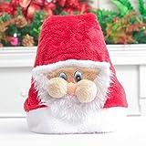 Weihnachtsmütze Weihnachtsartikel Kosmetik Requisiten Weihnachtsmützen mit Masken Plüsch Weihnachtsmützen,Rot