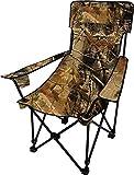 normani Sehr Stabiler Klappstuhl Campingstuhl Angelstuhl mit Getränkehalter, Abnehmbarer Polsterung Tragetasche - bis zu 150 kg Farbe Camouflage