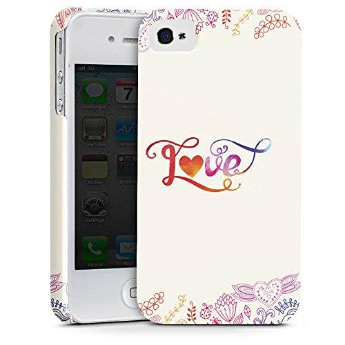 Apple iPhone X Silikon Hülle Case Schutzhülle Love Sprüche Schmetterling Blumen Premium Case glänzend