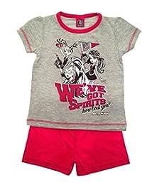 Mattel Kids Girls Pyjamas Official Monster High Short Pyjamas PJ's Set 2 Piece Size 3 To 10 Years