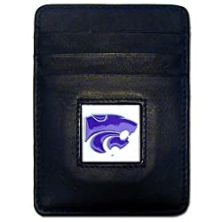 NCAA Kansas State Wildcats Leather Money Clip/Cardholder Wallet