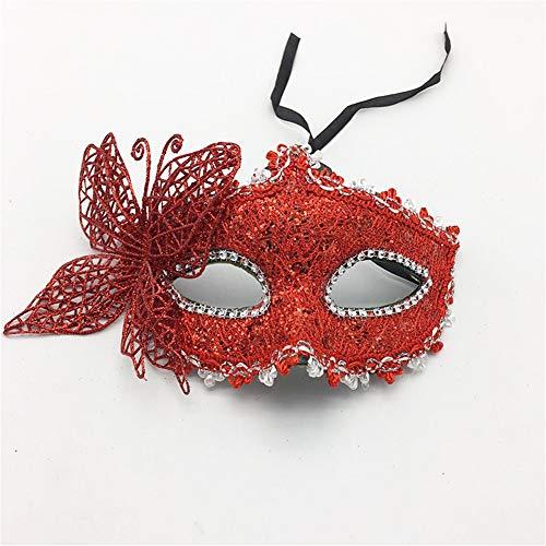 wachsene Maskerade Party Maske Halloween Prinzessin Maske Prom Schmetterling Maske Party Augenmaske, rot Spielzeug ()