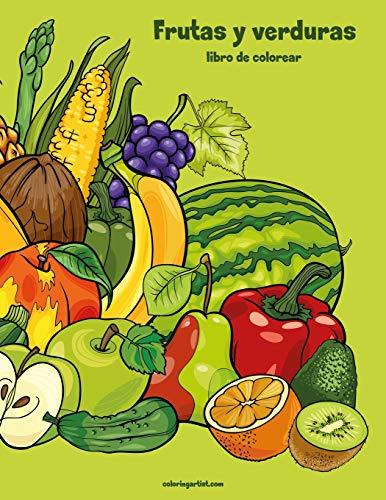 Frutas y verduras libro para colorear 1: Volume 1 por Nick Snels