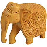 [Sponsored Products]Instacrafts Traditional Handmade Pink City Jaipur Rajasthani Worked Historical Auspicious Decorative Designer Unique Antique Gift Purpose Home / Table / Wall Decor Wooden Handcarved Elephant Showpiece / Idol / Figurine / Collectible