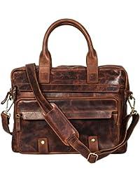 Genuine Leather Men's Messenger Bag – Men's Portfolio Bag – Men's Leather Shoulder Bag-Leather Office Bag-Leather...