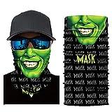 Gusspower Rollenspiel Multifunktionstuch Bandana Halstuch Kopftuch: Face Shield aus Mikrofaser - Material ist flexibel und atmungsaktiv - Maske fürs Motorrad-, Fahrrad- und Skifahren (A)