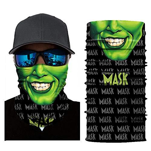 Feitb Face Shield Maske Radfahren Halstuch Motorrad Kopftuch Multifunktionstuch Sturmmaske Gesichtsmaske Ski Balaclava Stirnband Sturmhaube Halloween (A)