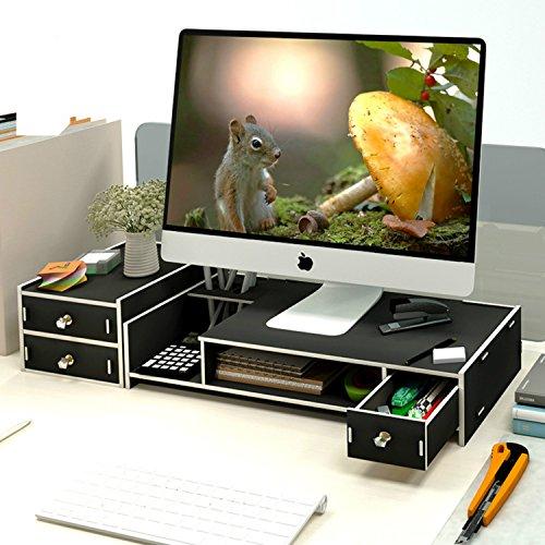 Dreamaccess - Soporte de Madera para Monitor de PC para TV, portátil,...