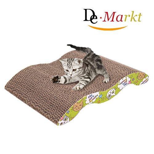 Demarkt Kratzbrett für Katzen mit Katzenminze M Type 34.0*23.5*5.0cm