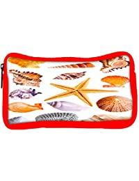 Snoogg Eco Friendly Canvas 14 Mussels And Star Fish Studio Isolated On White Student Pen Pencil Case Coin Purse...