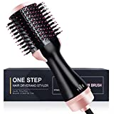 Hot Air Brush,ATCRINICT One Step Hair Dryer & Volumizer Styler Brush, 4 in 1 Negative Ion Straightening Brush Salon and Curly Hair Comb,Reduce Frizz and Static Suitable for All hair Anti-Scald