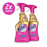 Vanish Carpet Cleaner + Upholstery, Gold Oxi Action Stain Remover Spray, 500 ml, Pack of 2