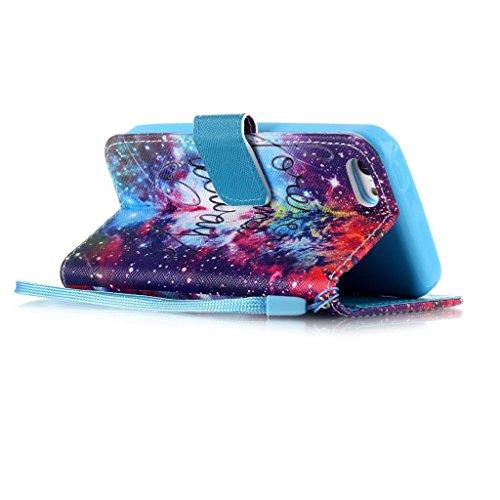 iPhone 5S Coque, iPhone 5 Coque, Lifeturt [ L'iPhone est verrouillé ] Coque Dragonne Portefeuille PU Cuir Etui en Cuir Folio Housse, Leather Case Wallet Flip Protective Cover Protector, Etui de Protec E02-Cosmos129263
