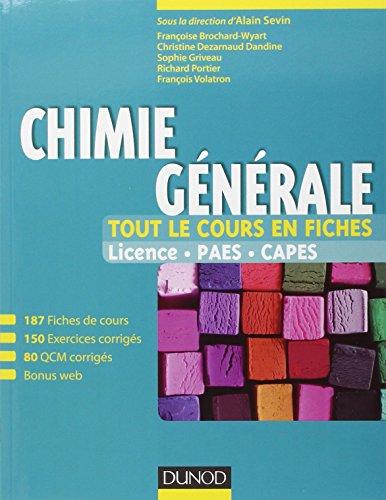 Chimie générale - Tout le cours en fiches - Licence, PAES, CAPES (+ site compagnon)